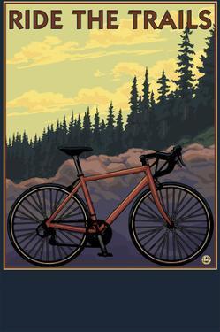 Bicycle - Trails by Lantern Press