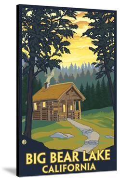 Big Bear Lake, California -Cabin in the Woods by Lantern Press
