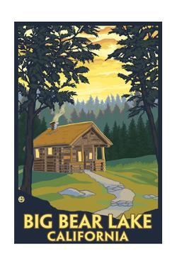 Big Bear Lake, California -Cabin in the Woods by Lantern Press