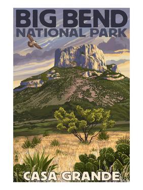 Big Bend National Park, Texas - Casa Grande by Lantern Press