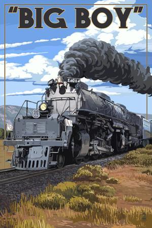Big Boy Steam Engine 4014 by Lantern Press