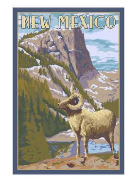 Big Horn Sheep - New Mexico by Lantern Press