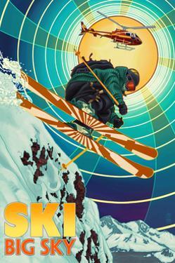 Big Sky, Montana - Heli-Skiing by Lantern Press
