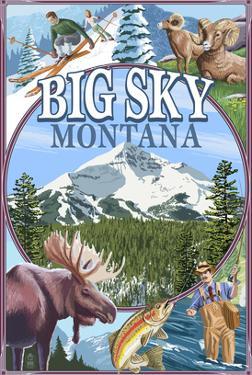 Big Sky, Montana - Scenes by Lantern Press