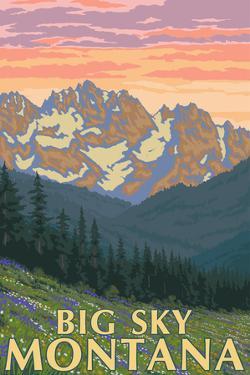 Big Sky, Montana - Spring Flowers by Lantern Press