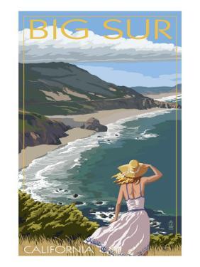 Big Sur, California Coast Scene by Lantern Press