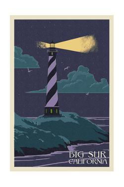 Big Sur, California - Lighthouse Letter Press by Lantern Press