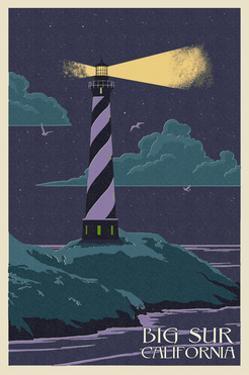 Big Sur, California - Lighthouse Letter Press by Lantern Press