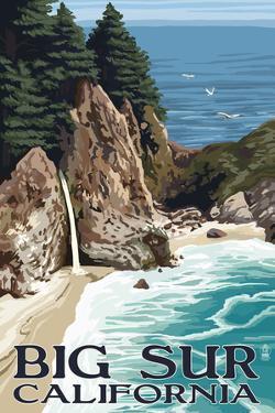 Big Sur, California - McWay Falls by Lantern Press
