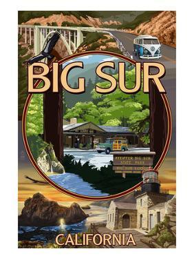 Big Sur, California - Montage Scenes by Lantern Press