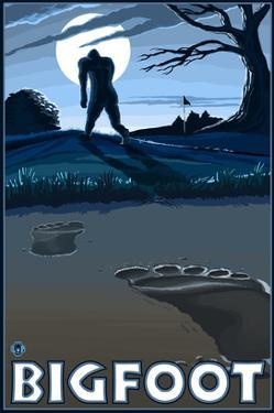 Bigfoot at Night by Lantern Press