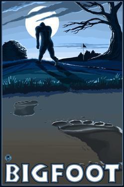 Bigfoot at Night by Lantern Press