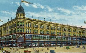 Binghamton, New York, Exterior View of the Fowler, Dick, and Walker Department Store by Lantern Press