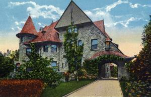Binghamton, New York, Exterior View of the Kilmer Residence on Riverside Drive by Lantern Press