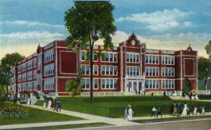 Binghamton, New York, Exterior View of the New High School by Lantern Press