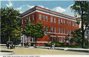 Binghamton, New York, Exterior View of the NY Telephone Building on Henry Street by Lantern Press