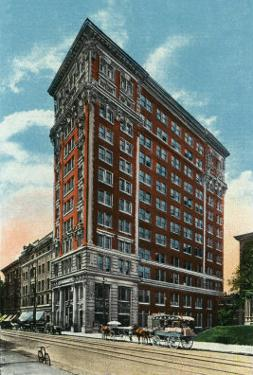 Binghamton, New York, Exterior View of the Press Building by Lantern Press