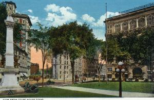 Binghamton, New York, View from the Court House Steps by Lantern Press