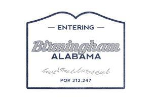 Birmingham, Alabama - Now Entering (Blue) by Lantern Press