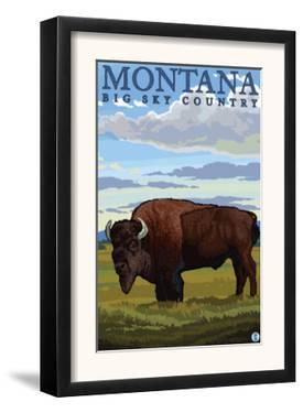 Bison, Montana by Lantern Press