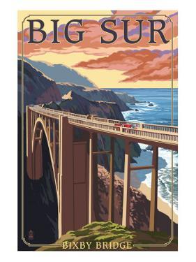 Bixby Bridge - California Coast by Lantern Press
