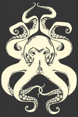 Black and White Octopus by Lantern Press