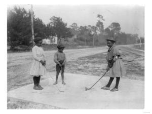 Black Children Playing Golf Photograph by Lantern Press