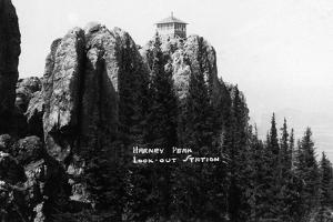 Black Hills Nat'l Forest, South Dakota - Harney Peak Look-out Station by Lantern Press