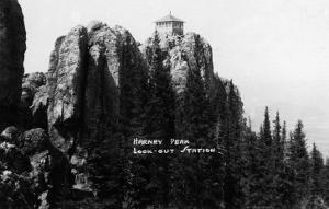 Black Hills Nat'l Forest, South Dakota - Harney Peak Look-out Station by Lantern Press