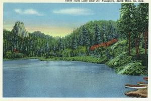 Black Hills, South Dakota, View of Horse Thief Lake near Mount Rushmore by Lantern Press