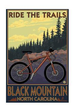 Black Mountain, North Carolina - Ride the Trails by Lantern Press