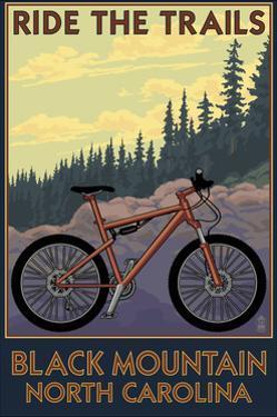 Black Mountain, North Carolina - Ride the Trails by Lantern Press