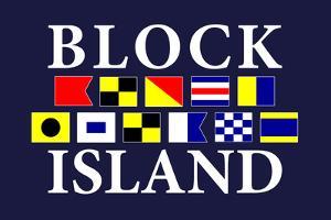 Block Island, Rhode Island - Nautical Flags by Lantern Press