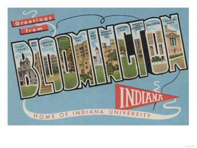 Bloomington, Indiana - Indiana University by Lantern Press