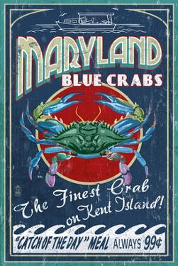 Blue Crabs - Kent Island, Maryland by Lantern Press