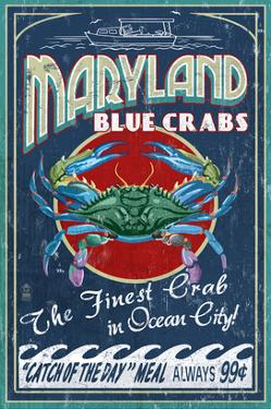 Blue Crabs - Ocean City, Maryland by Lantern Press