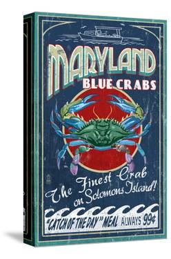 Blue Crabs - Solomons Island, Maryland by Lantern Press