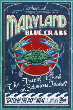 Blue Crabs - Solomons Island, Maryland by Lantern Press