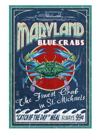 Blue Crabs - St. Michaels, Maryland by Lantern Press