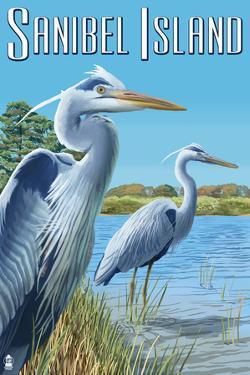Blue Heron - Sanibel Island, Florida by Lantern Press