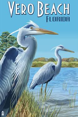 Blue Heron - Vero Beach, Florida by Lantern Press