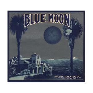 Blue Moon Brand - Los Angeles, California - Citrus Crate Label by Lantern Press