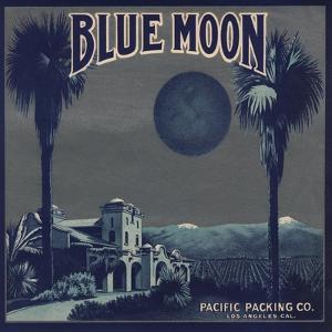 Blue Moon Brand - Los Angeles, California - Citrus Crate Label by Lantern Press