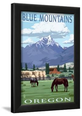 Blue Mountains Scene - Oregon by Lantern Press