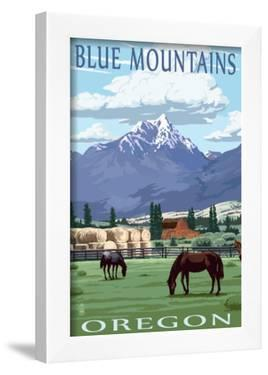 Blue Mountains Scene - Oregon by Lantern Press