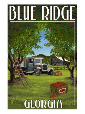 Blue Ridge, Georgia - Apple Harvest by Lantern Press