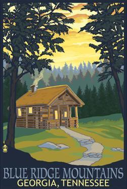 Blue Ridge Mountains - Cabin in Woods by Lantern Press