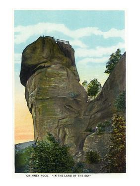Blue Ridge Mountains, North Carolina - Chimney Rock Scene by Lantern Press
