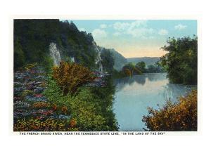 Blue Ridge Mountains, North Carolina - French Broad River Scene by Lantern Press