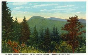 Blue Ridge Mountains, North Carolina - Great Craggy Mountains View by Lantern Press